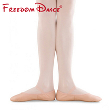 Professional Natural Leather Ballet Dance Shoes Full Sole Soft Slippers Dancing Sneakers Pink For Children And Women