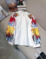 Модные женские блузы и рубашки 2019 взлетно посадочной полосы Элитный бренд Европейский дизайн вечерние Стиль Женская Костюмы WD0139