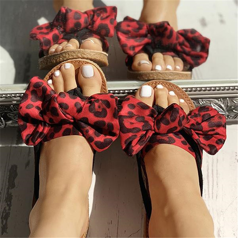 WENYUJH Bow Slippers Women Summer Sandals Slipper Indoor Outdoor Linen Flip-flops Beach Female Fashion Leopard Floral ShoesWENYUJH Bow Slippers Women Summer Sandals Slipper Indoor Outdoor Linen Flip-flops Beach Female Fashion Leopard Floral Shoes