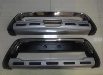 ABS CHROME PAINT CAR FRONT+REAR BUMPERS PROTECTOR GUARD SKID PLATE FOR Ssangyong Tivolan / Tivoli 2015 2016 2017 2018 2019