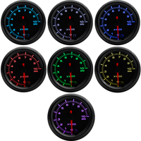 2 52mm 7 Colors LED Car Auto Tachometer 0 10000 RPM Gauge High Speed Stepper Motor RPM meter Car Meter