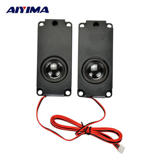 AIYIMA 2pcs 10045 100mm * 45mm 5 W 8 ohm Inner Double Magnetic Full Range Clear Sound Cavity Speaker