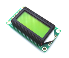5pcs/lot Green LCD0802 Character Display Module 5V 0802 for Arduino