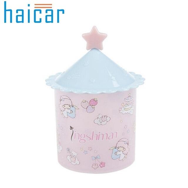 Haicar Organizer Storage Box Cosmetic Makeup Case Clear Q Tip Storage  Holder Cotton Pad Swab