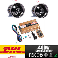 400W Police Sire car MIC Speaker System 8 Sound Loud for Car Warning Alarm Police Fire Siren Horn PA ,horn car alarm amplifier