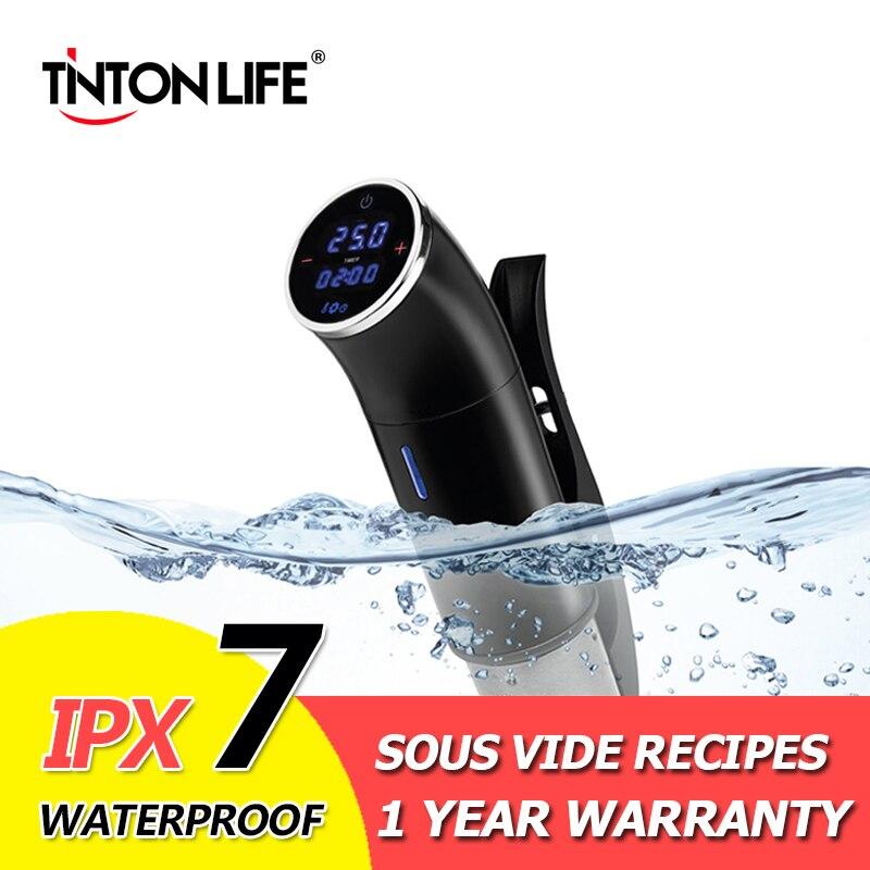 Sous Vide Vide Alimentaire Mijoteuse IPX 7 Watrerproof 1200 w Puissant Thermoplongeur LCD Affichage Numérique En Acier Inoxydable