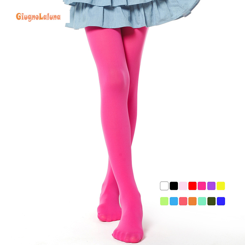 Baby Girl's Stockings Polyester 100D Tight Solid Size XL Cute Children Girls Kids Stockings Tights 12 Colors
