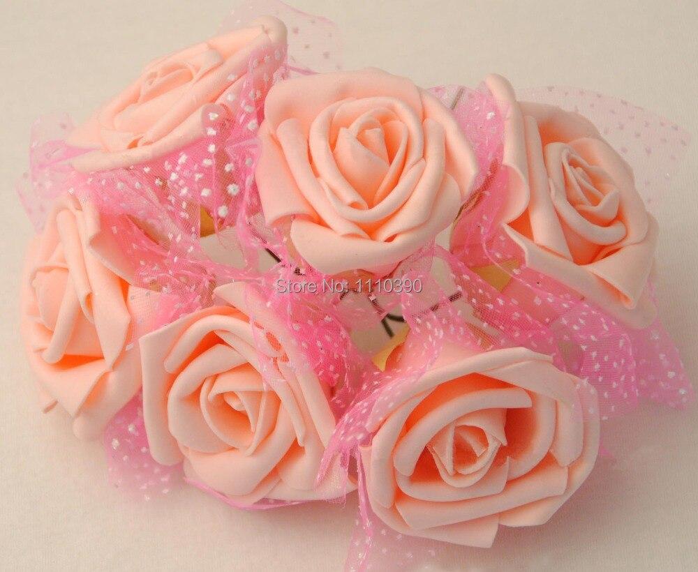 Foam ball craft - 5 6cm Artificial Foam Pe Flowers Bouquets Real Touch Roses Silk Flowers Bouquet