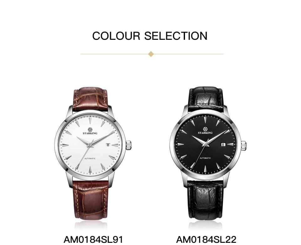 HTB1bigWk lYBeNjSszcq6zwhFXa6 STARKING Automatic Watches Men Stainless Steel Business Wristwatch Leather Fashion 50M Waterproof Male Clock Relogio Masculino
