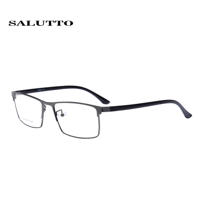 SALUTTO Optical Frames Myopia  Full Glasses Frame Men's Business Lightweight Material Vintage Square Half Eyeglasses Anteojos