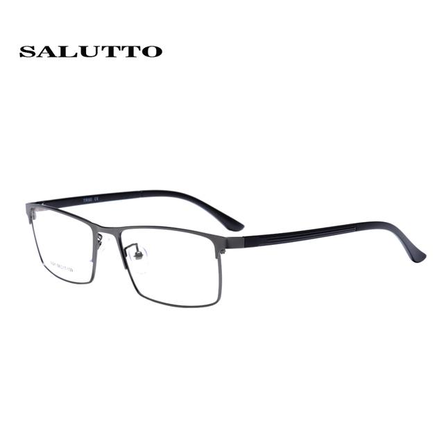 Salutto marcos ópticos de miopía gafas de marco completo material ligero de la vendimia de los hombres de negocios square medio anteojos