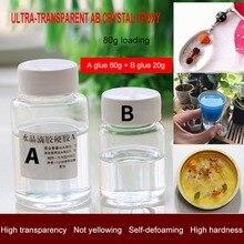 Ультра-прозрачный AB кристалл клей двухкомпонентный герметик из эпоксидной смолы быстрое высыхание