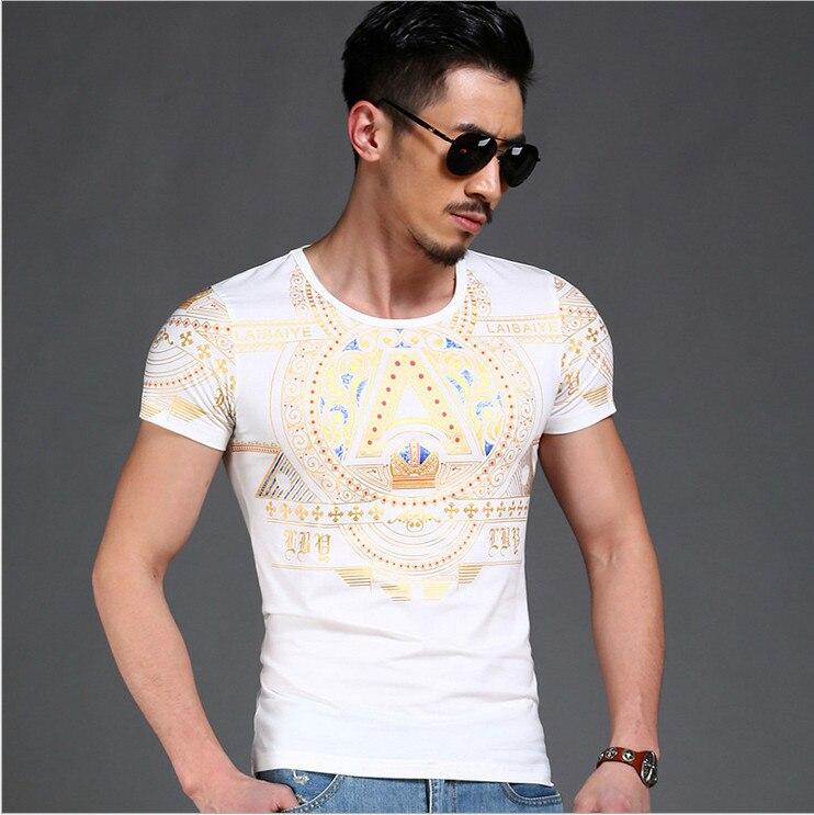 2018 Nueva cultura del verano Nueva moda para hombre camiseta de la - Ropa de hombre - foto 3