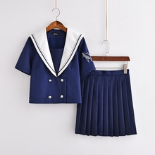 Uniforms Set  New Japanese JK Uniform Orthodox Sailor Suit College Female Student School Class Short Sleeve