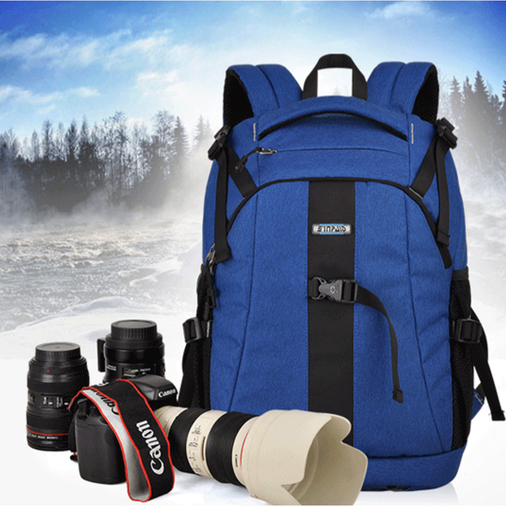 Sinpaid Ultra Durable Wear-resistant Waterproof Anti-theft Travel Camera Bags SLR Backpack for Nikon Canon  SY-14 профессиональная цифровая slr камера nikon d3200 18 55mmvr