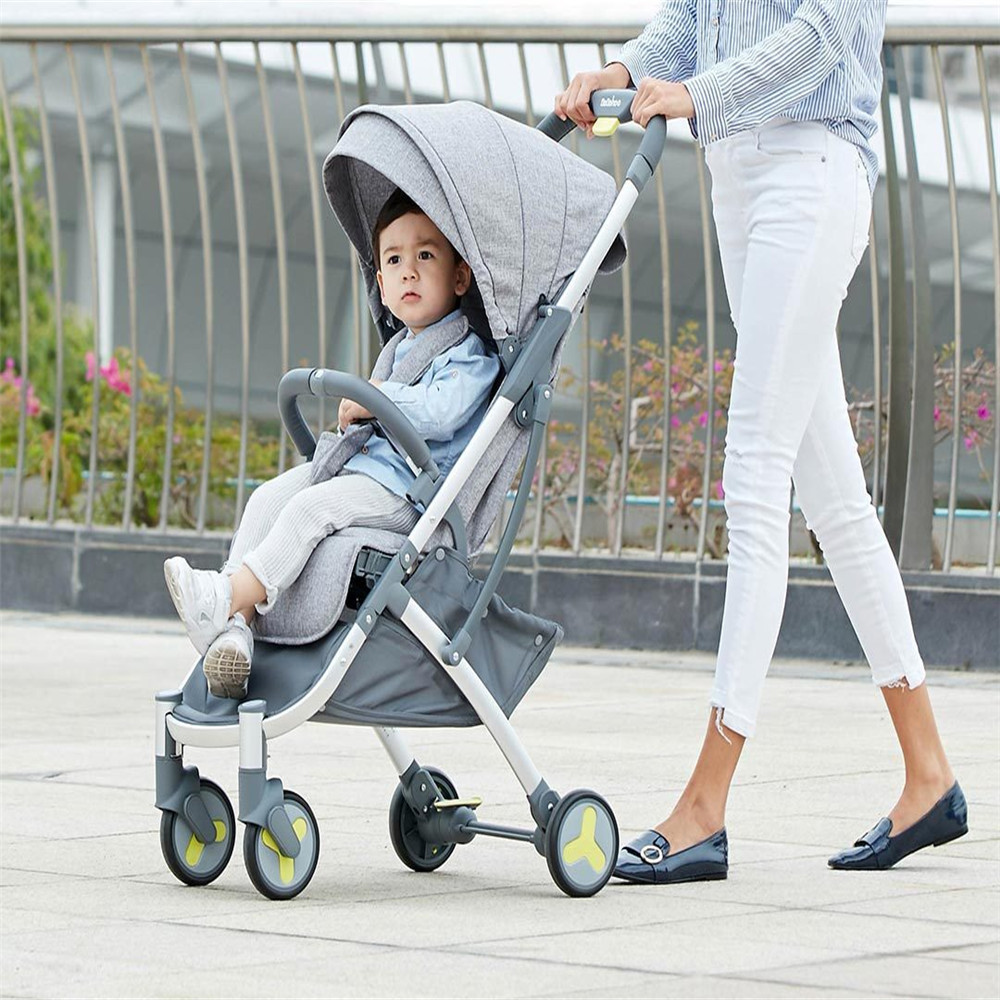 Youpin High Landscape Stroller Two-way Can Sit Reclining Ultra-light Portable Folding Shock Four-wheeled Baby Trolley