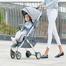 Youpin High Landscape Stroller Two-way Can Sit Reclining Ultra-light Portable Folding Shock Four-wheeled Baby Trolley(China)