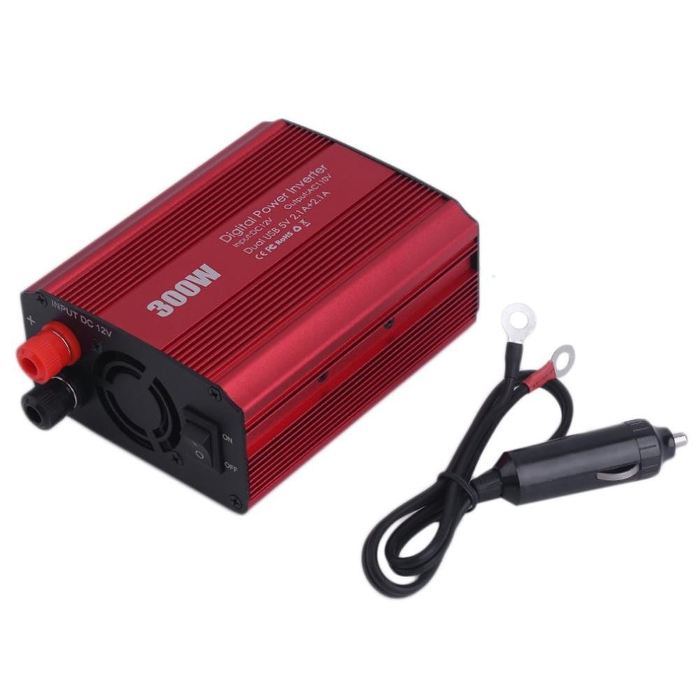 150W Power Inverter DC 12V AC 110V 3 Plug w// USB 2.1A Home Wall /& 1A Car Charger