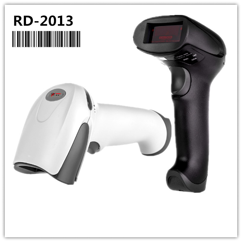 RD-2013 Low Price Barcode Scanner Reader Portable USB Wired 1D Cable Laser Bar Code Scanning for POS System Supermarket new laser barcode scanner pos wired 1d usb automatic laser barcode bar code reader auto sensing barcode reader with stand