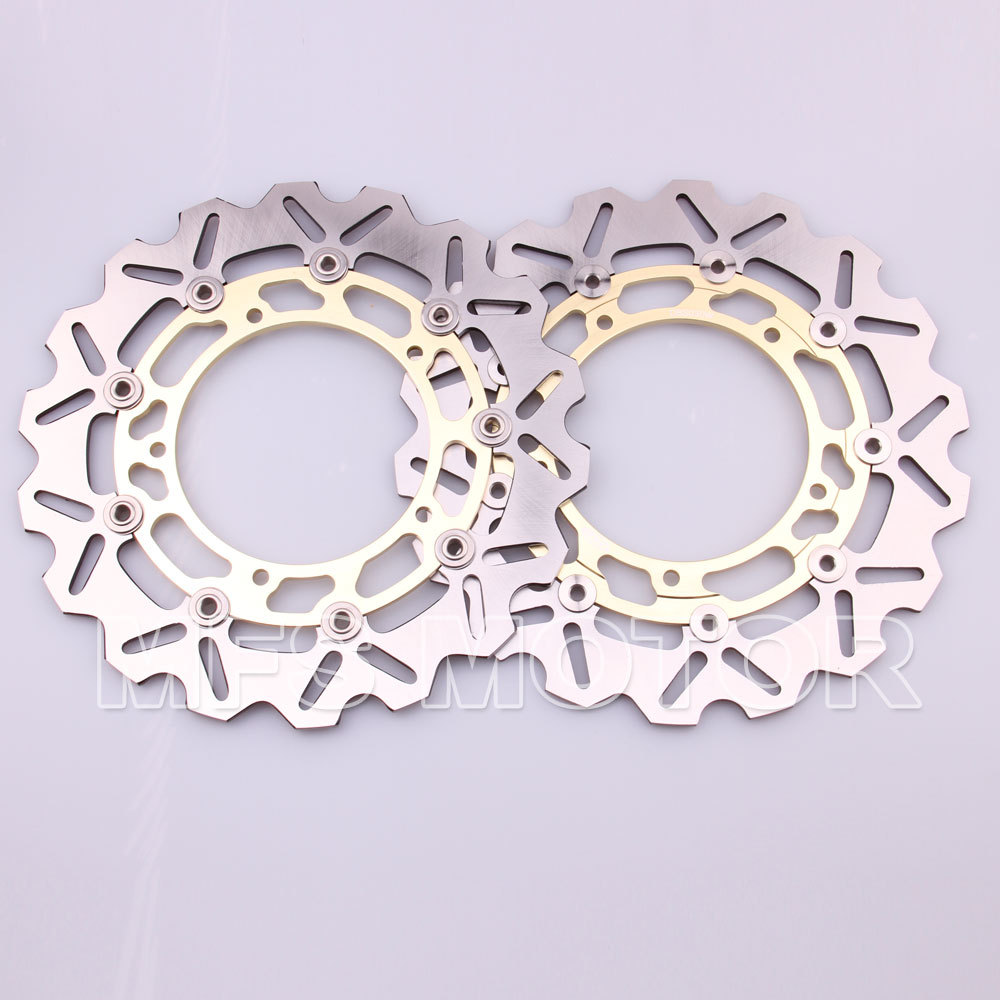 Motorcycle Front Brake Discs Rotor For Yamaha YZF R6 2003 2004 2005 YZF R1  03 04 05 Gold 6 colors cnc adjustable motorcycle brake clutch levers for yamaha yzf r6 yzfr6 1999 2004 2005 2016 2017 logo yzf r6 lever