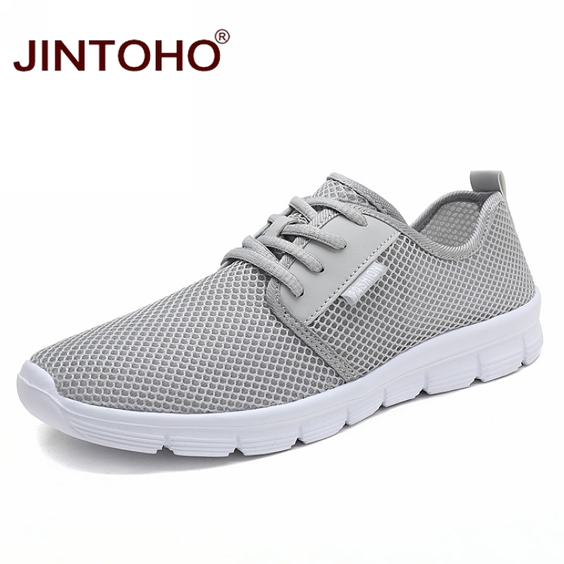JINTOHO Summer Unisex Sneakers Fashion Casual Shoes For Men Breathable Mesh Shoes Summer Adult Male Comfortable Shoes Zapatillas