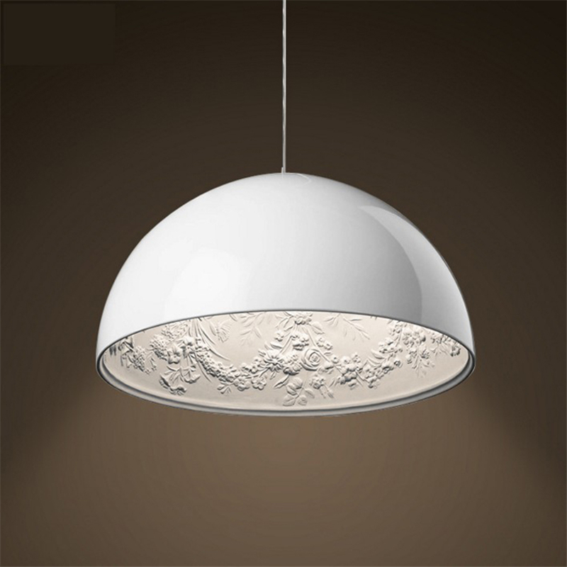 Creative Home White Black Sky Garden Pendant Light Half Round Dining Room Light Study Light Cafe