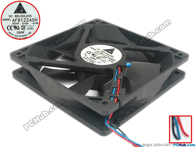 Free Shipping For DELTA  AFB1224SH -S15R  DC 24V 0.42A 3-wire 3-pin connector 80mm 120x120X25mm Server Square fan free shipping for delta afc0612db 9j10r dc 12v 0 45a 60x60x15mm 60mm 3 wire 3 pin connector server square fan