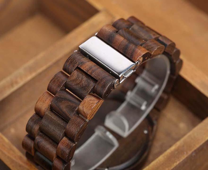 Walnut Wood Watch Men Natural Wooden Watches Male Casual Wristwatch Brown Clock 10