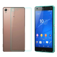 For Sony Xperia Z3 Compact Front Back Tempered Glass Film Screen Protector