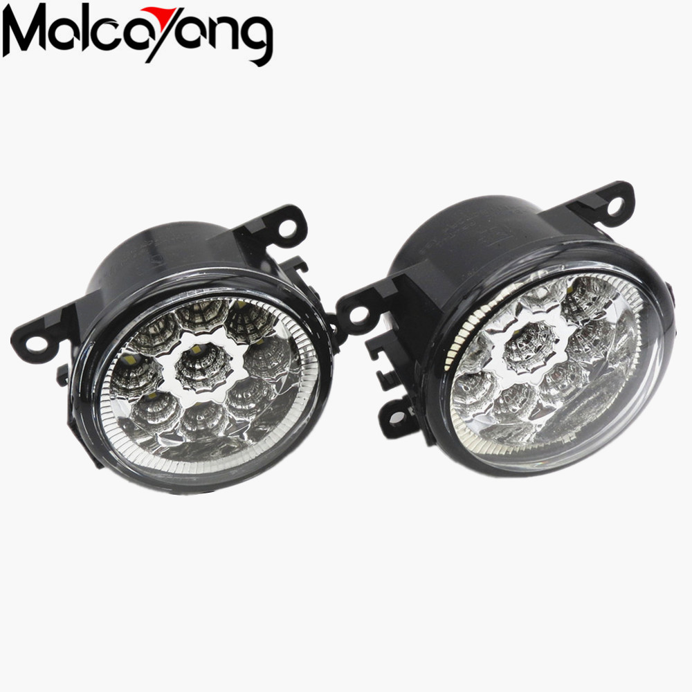 2 Pcs/Set LED FOG lights LAMPS Front Bumper Car styling 35500-63J02 8200074008 For SUZUKI JIMNY (FJ) 1998-2015