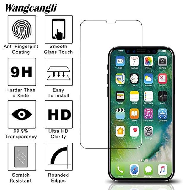 Verre trempé 2.5D pour iphone 7 protecteur décran demi protection décran pour iphone 4 5 6 6s plus 7 7plus 8 8plus X film de verre