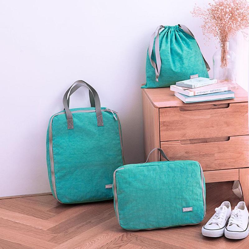 8 pièces/ensemble chaussures imperméables vêtements sacs de rangement cordon sac support de pochette conteneur maison multifonctionnel voyage organisateur sac