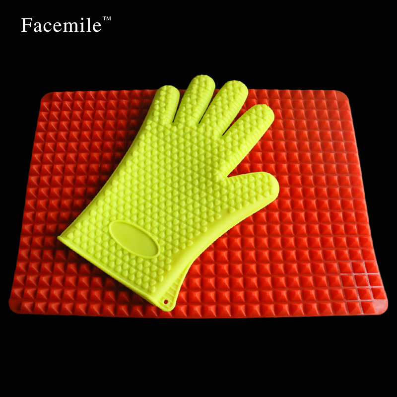 microwave oven bakeware Silicone Baking Mats Pads Cooking Mat Oven Baking Gloves Kitchen Set