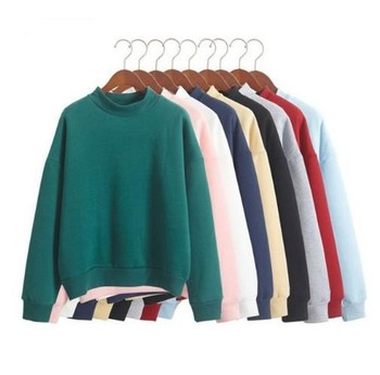 Wholesale Cute Women&Men Hoodies Pullover  2019 Spring Coat Winter Loose Fleece Thick Knit Sweatshirt Female Tops