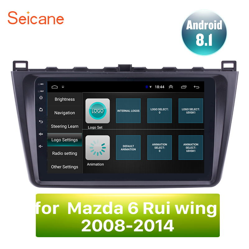 Seicane 9 inch For Mazda 6 Rui wing 2008 2009 2010 2011 2012 2013 2014 Android 8.1 2 DIN Car Unit Radio Audio GPS Player WIFI 3G