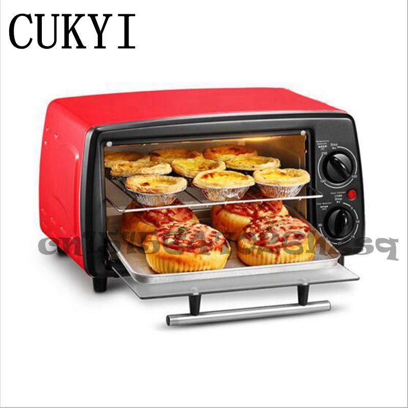 цены CUKYI Mini oven baking Red and Black 12L Household Multifunctional cookies Household Electric ovens