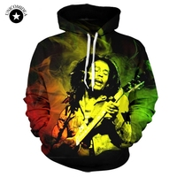 Unicomidea Bob Marley 3D Reggae Star Printed Hoody Hoodie Custom Made Clothing Men Women Streetwear