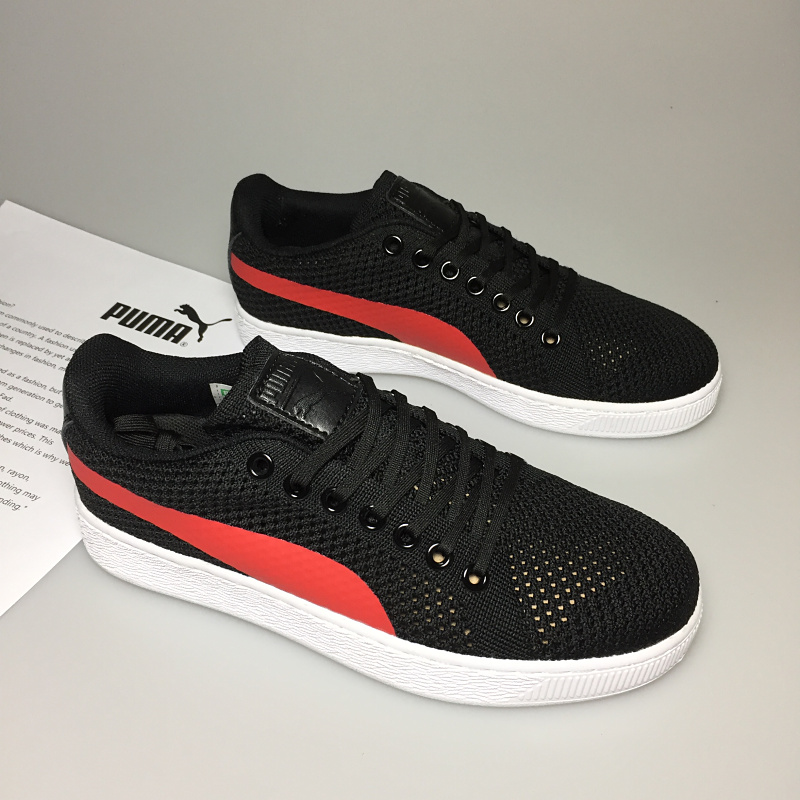2018 Puma Breathable Men s Leather Sneakers Ferr ari Shoes Red White Black brown  Badminton Shoes Ma am Black red size 36 39-in Badminton Shoes from Sports  ... 23d1fec7f