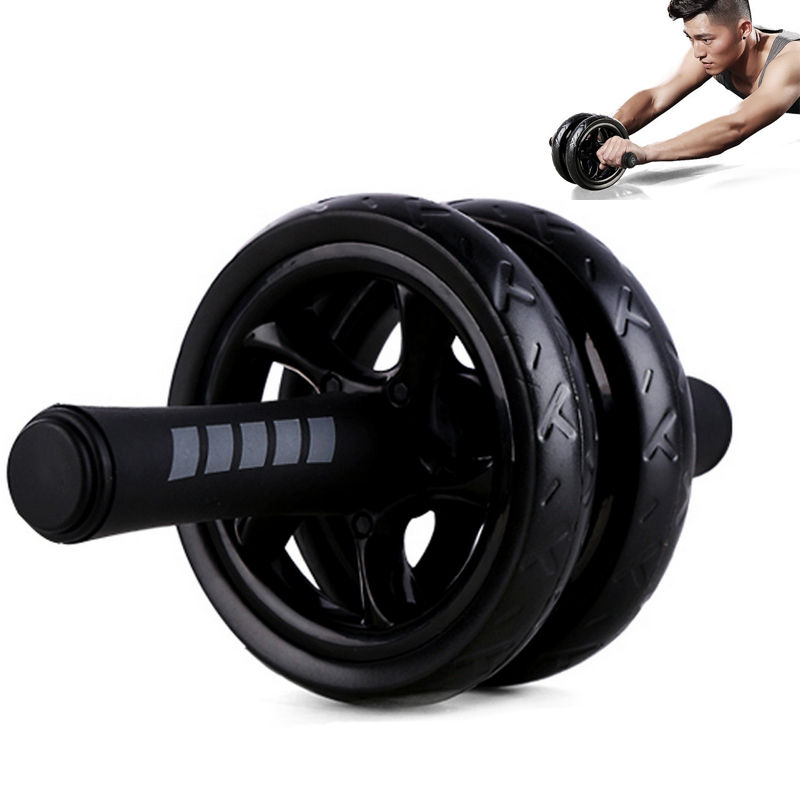 Ship From Russia New No Noise Abdominal Wheel Double Roller With Mat For Exercise Fitness Equipment Supplies ASD88
