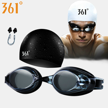 361 Optical Swimming Goggles Myopia Swim Glasses Cap Set for Pool Prescription Diopter Anti Fog Eyewear