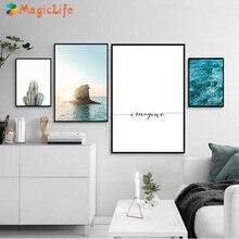 цены на Sea Sunset Modern Home Decor Wall Art Canvas Painting Cactus Nordic Poster  Wall Pictures Art Prints Unframed  в интернет-магазинах
