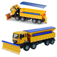 Alloy engineering car snow shoveling snow remover rescue vehicle snow shovel can rotate a children's toy model 1:50
