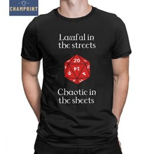 c05f88cf7ce Dnd Dungeons And Dragons D20 Dice Men T Shirt D D Lawful in The Streets  Chaotic In