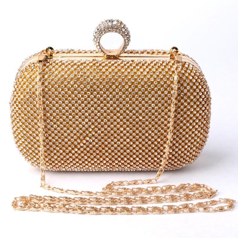 2016 HOT Fashion Crown rhinestones evening bags purse clutch evening bags shoulder bag for weddingVFE0004b