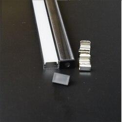 5-30 مجموعة/وحدة 1m 40 بوصة بأكسيد الأسود مواسير ألومنيوم للمبات الليد ل 12/24v قطاع ، شقة سليم الألومنيوم قناة ، 90/180 درجة موصل