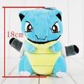 1pcs 18cm pokeball pikachu Blastoise stuffed plush toy pendant with sucker free shipping