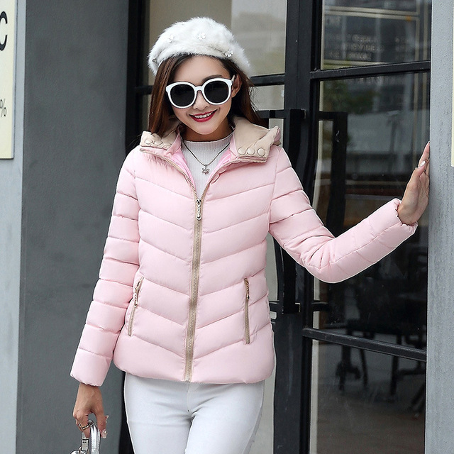 2018 full cotton liner zipper solid new arrival slim cotton jacket zippers cotton-padded winter women coat 2