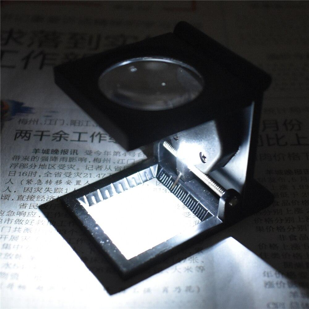 10x opvouwbare desktop vergrootglas vergrootglas staande stijl duif eye optische lenzen met 2 led verlichting verlichte schaal in 10x opvouwbare