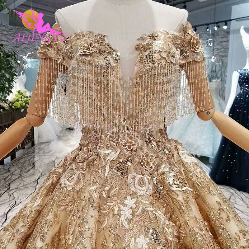 AIJINGYU Shop Online China Bride And Weddings Gowns Beijing See Through Italy Cheap For Sale Gown 2018 Indian Wedding Dress