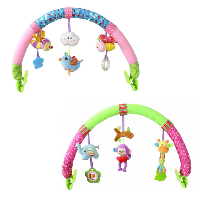 Colorful Baby kids Toy Multifunctional Babyplay Bed Car Seat Crib Stroller Bell Ring Mobiles Toy 20% off